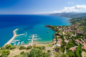 Aerial view of the Cefalu, Sicily, Italy.