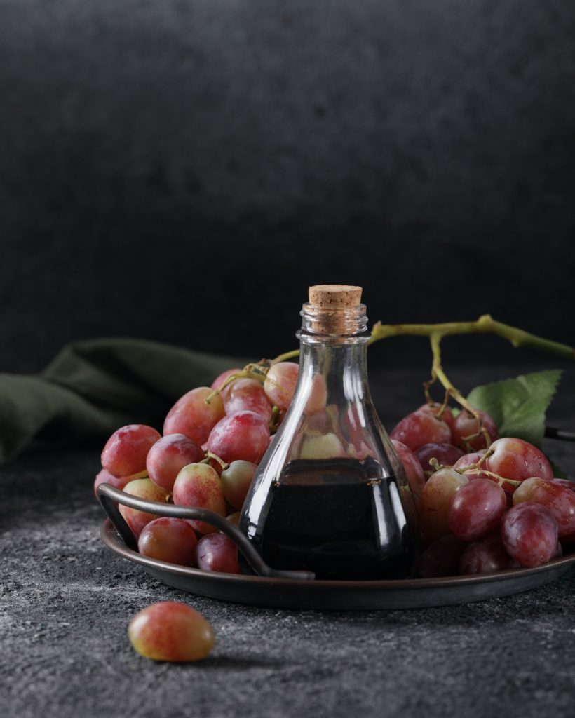 Balsamic Vinegar in a Glass Bottle