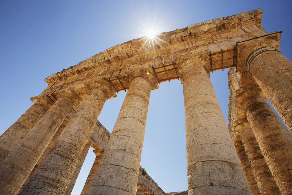 Columns of the Temple of Segesta in Sicily.