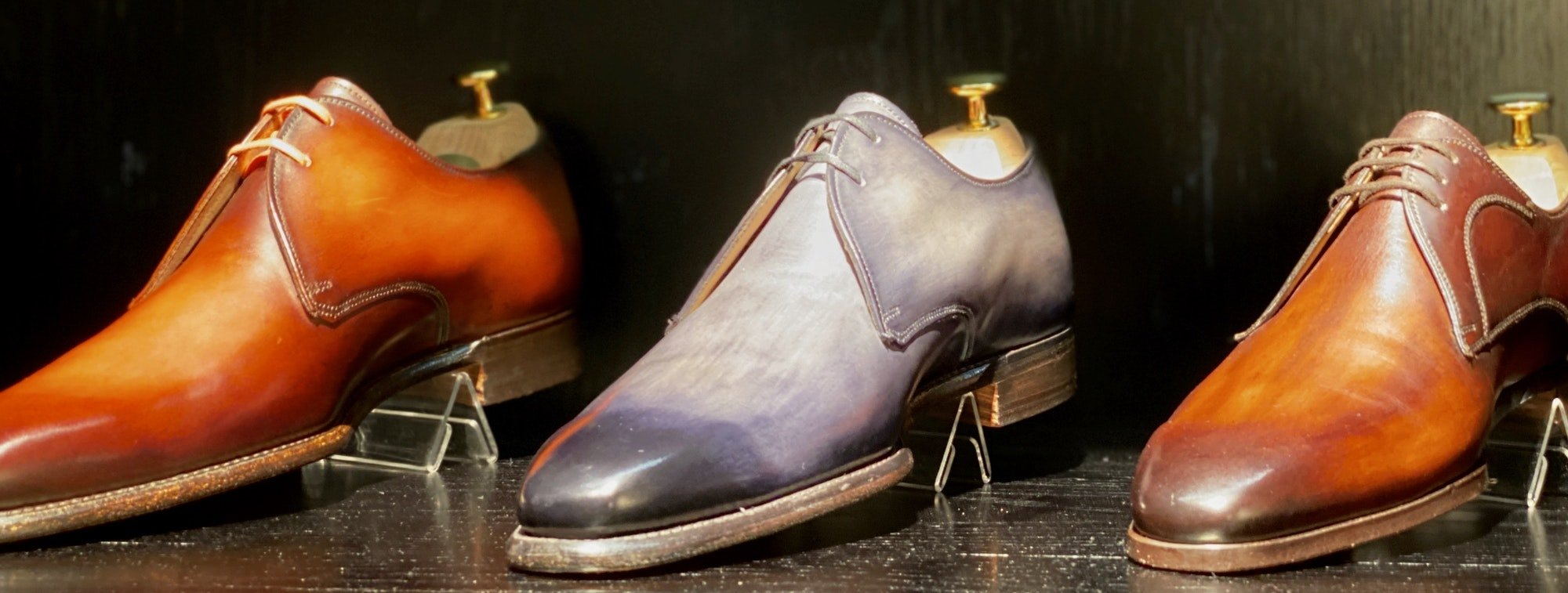 Italian Leather Patina Shoes for Men