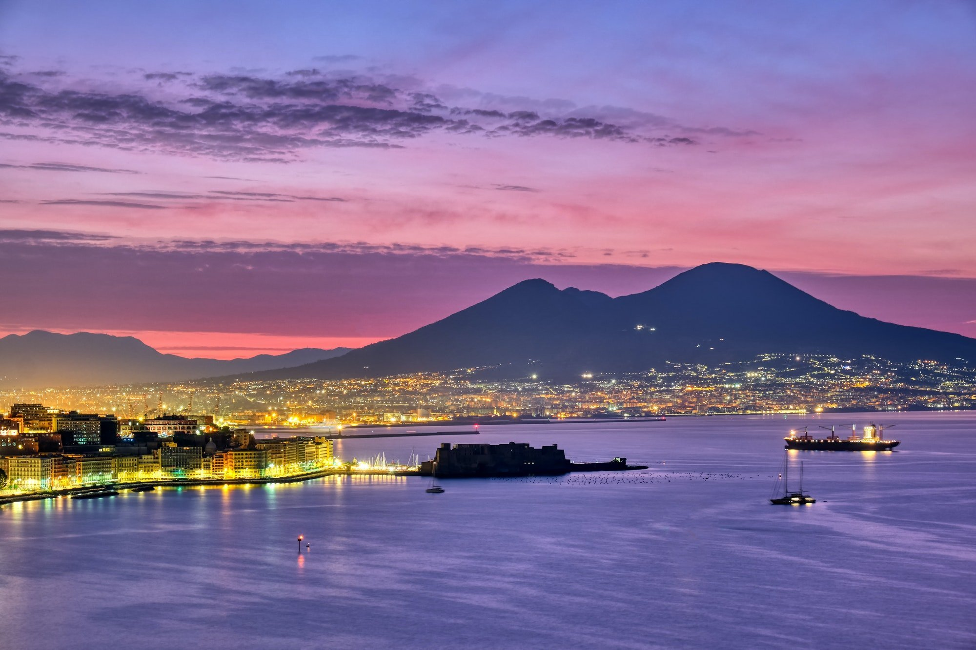 Mount Vesuvius and the gulf of Naples
