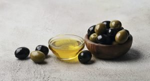 Olives oil with olive