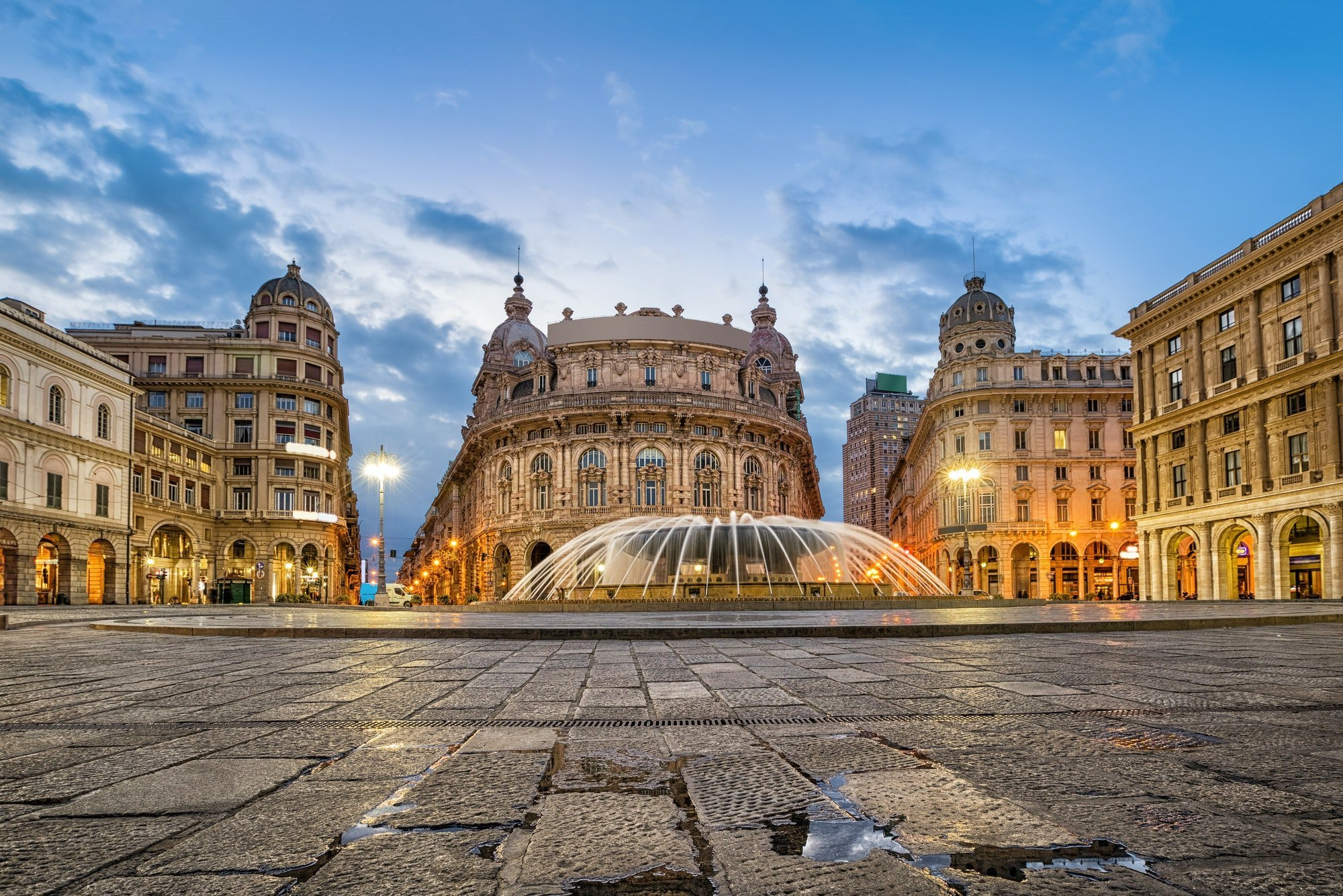 Piazza De Ferrari square in Genoa