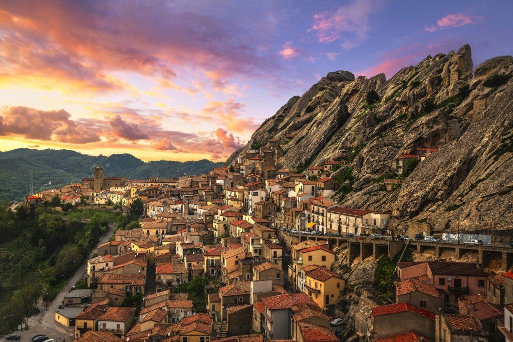 Pietrapertosa village in Apennines Dolomiti Lucane. Basilicata,
