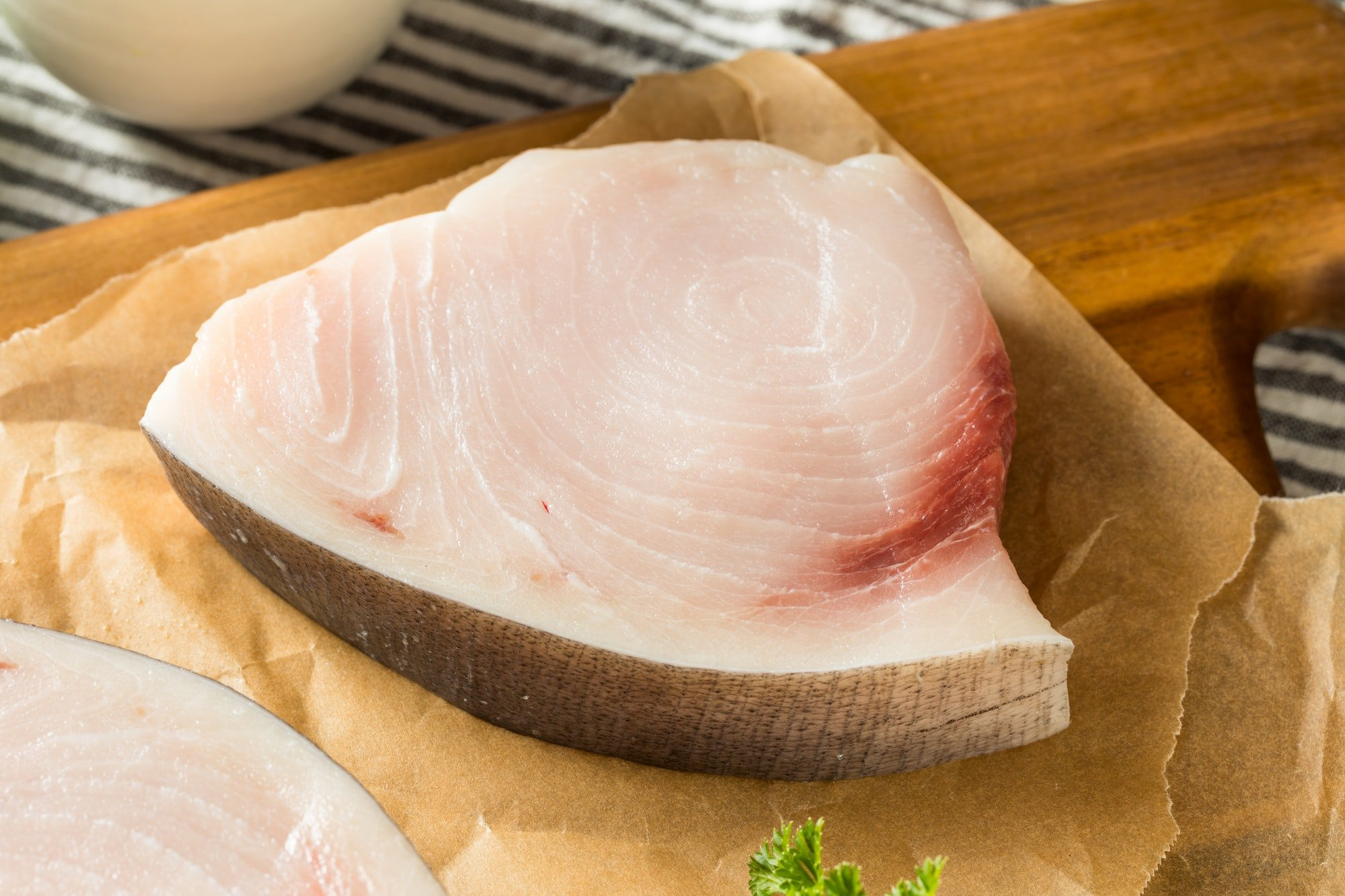 Raw Organic Swordfish Steak Filets