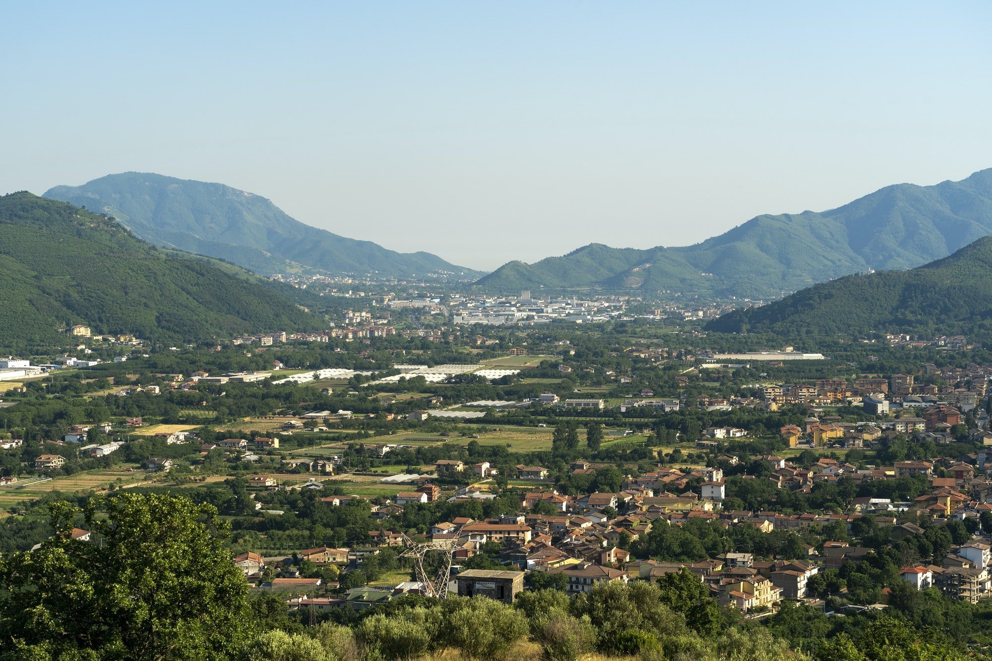 Summer landscape in Irpinia, Southern Italy.