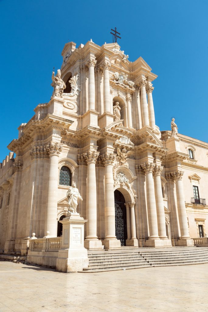 The cathedral of Syracuse in Sicily