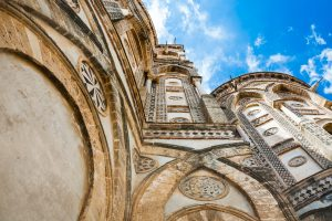 walls of Norman cathedral Duomo di Monreale