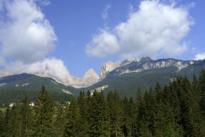 Along the cycleway of Fassa valley, Dolomites