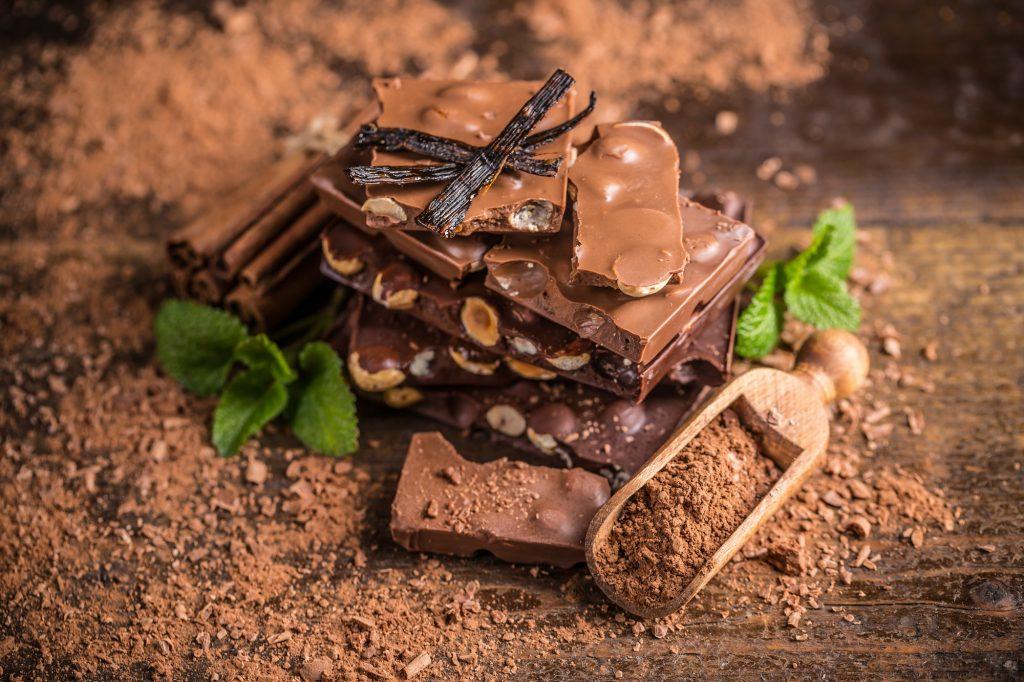 Dark hazelnut chocolate