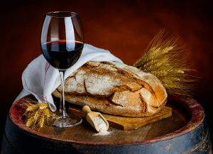 Red Wine with Bread