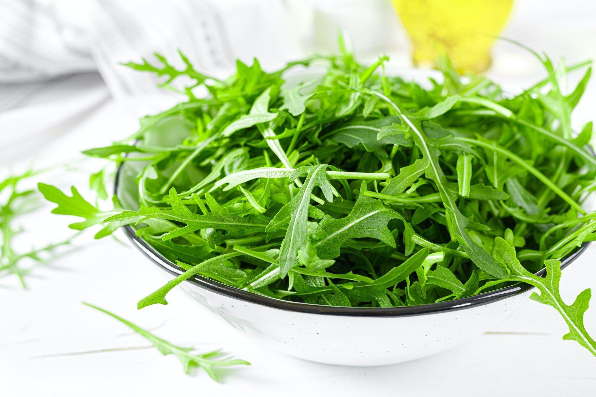 Fresh arugula or rocket leaves salad, rucola