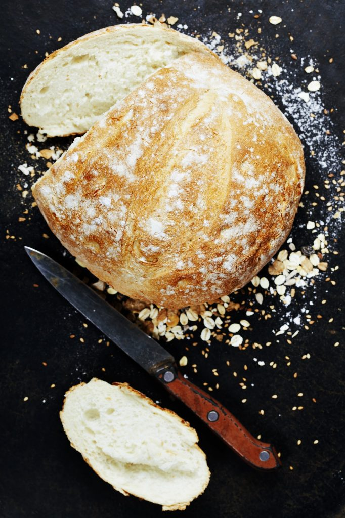 Homemade bread loaf
